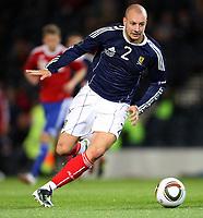 Football - UEFA Euro 2012 Qualifier - Scotland v Liechtenstein<br /> <br /> Scotland's Alan Hutton during the Scotland v Liechtenstein UEFA Euro 2012 Qualifier, Hampden Park