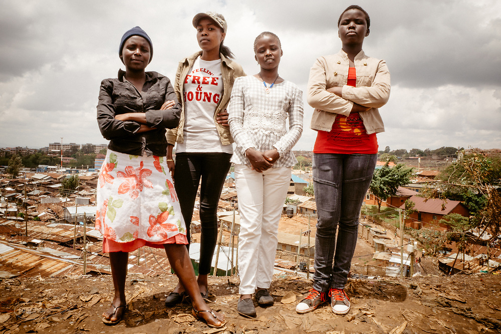 Kenia 2017: Nairobi. Le ragazze di Kivuli Centre in visita a Kibera.