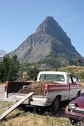 A horse manure truck, Glacier National Park, Montana.