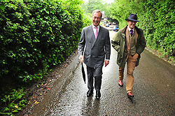 © Licensed to London News Pictures. 23/06/2016<br /> EU REFERENDUM POLLING DAY.  <br /> NIGEL FARAGE  Before he has cast his vote!<br /> <br /> Nigel Farage  UKIP Leader VOTING this morning <br /> (23.6.2016) at Cudham Primary School,Biggin Hill,Kent.<br /> <br /> <br /> <br /> (Byline:Grant Falvey/LNP)