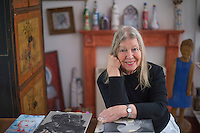 Picture By Jim Wileman  30/01/2014  Artist Sylvette David, pictured in her studio, near Rattery, South Devon.