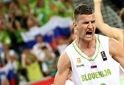 Alen Omic of Slovenia during basketball match between Slovenia vs Netherlands at Day 4 in Group C of FIBA Europe Eurobasket 2015, on September 8, 2015, in Arena Zagreb, Croatia. Photo by Vid Ponikvar / Sportida ###THIS IMAGE IS JUST FOR USE IN SLOVENIA  !!! ###