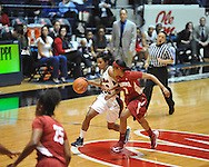 Ole Miss' Amber Singletary (20) vs. Alabama in NCAA women's basketball action in Oxford, Miss. on Sunday, January 13, 2013.  Alabama won 83-75.