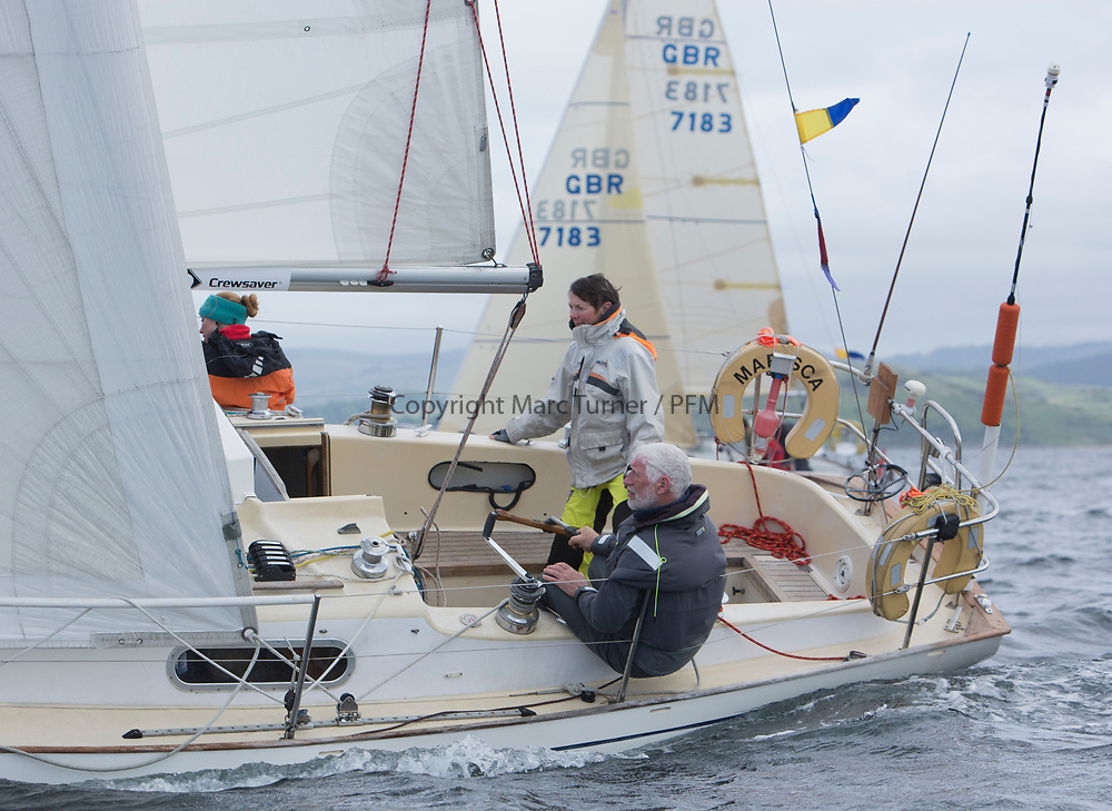 Silvers Marine Scottish Series 2017<br /> Tarbert Loch Fyne - Sailing Day 3<br /> <br /> GBR9884T, Marisca, Alastair Pugh, Royal Gourock YC, Contessa 32