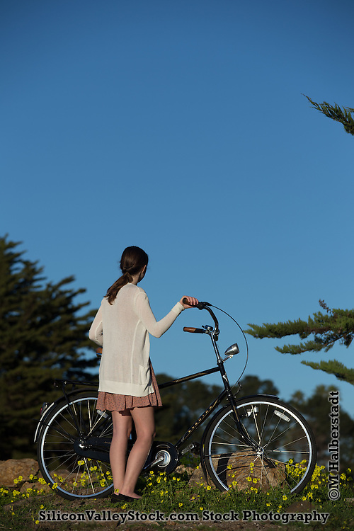 Girl with Bicycle Book Cover Concept
