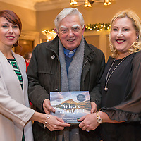 Authors Cora Guinane and Joanne O'Brien with Willie Walsh, Bishop Emeritus of Killaloe