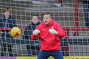York City goalkeeper Michael Ingham during the Sky Bet League 2 match between York City and Plymouth Argyle at Bootham Crescent, York, England on 14 November 2015. Photo by Simon Davies.