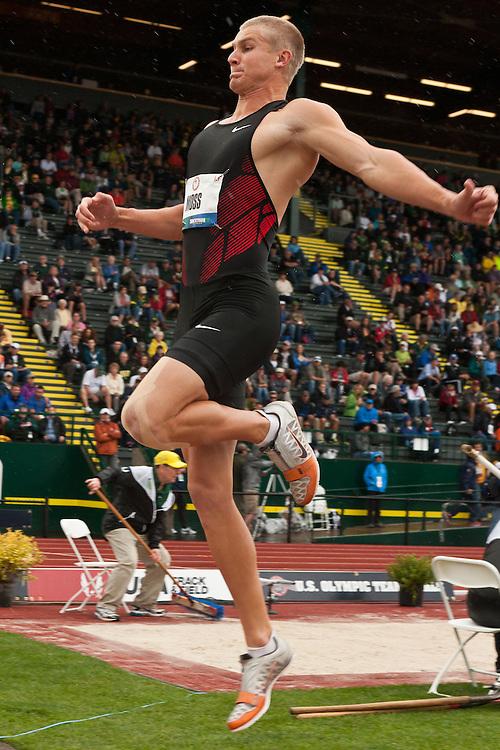 Olympic Trials Eugene 2012: Decathlon, long jump, Miller Moss