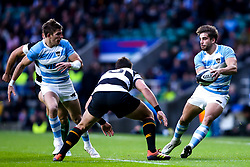 Juan Cruz Mallia of Argentina passes the ball - Mandatory by-line: Robbie Stephenson/JMP - 01/12/2018 - RUGBY - Twickenham Stadium - London, England - Barbarians v Argentina - Killick Cup