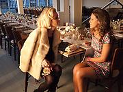 EVA HERZIGOVA; FRANCESCA VERSACE, BROWN'S 40TH ANNIVERSARY DINner. Regent Loft and Penthouses. Marshall St. London. 13 May 2010. -DO NOT ARCHIVE-© Copyright Photograph by Dafydd Jones. 248 Clapham Rd. London SW9 0PZ. Tel 0207 820 0771. www.dafjones.com.