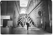 Choir singing at New York Times' 100th anniversary© Copyright Photograph by Dafydd Jones 66 Stockwell Park Rd. London SW9 0DA Tel 020 7733 0108 www.dafjones.com