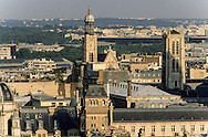 France. Paris. elevated view. Paris view from saint Sulpice Bell's tower    view from saint Sulpice Bell's tower