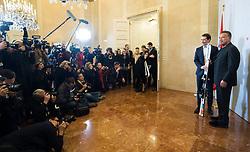 29.01.2019, Bundeskanzleramt, Wien, AUT, Bundesregierung, Bundeskanzler empfängt Schauspieler Schwarzenegger, im Bild Bundeskanzler Sebastian Kurz (ÖVP) und Arnold Schwarzenegger // Austrian Federal Chancellor Sebastian Kurz and Actor Arnold Schwarzenegger at federal chancellors office in Vienna, Austria on 2019/01/29 EXPA Pictures © 2019, PhotoCredit: EXPA/ Michael Gruber
