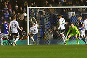 Alfie Mawson (5) clears during the EFL Sky Bet Championship match between Birmingham City and Fulham at the Trillion Trophy Stadium, Birmingham, England on 9 November 2019.