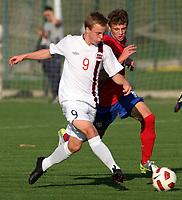 Fotball<br /> Landskamp G15<br /> Stara Pazova - Serbia<br /> Serbia v Norge<br /> 03.10.2012<br /> Foto: Aleksandar Djorovic<br /> NORWAY ONLY<br /> <br /> Sander Svendsen - Molde FK <br /> Nemanja Ivanovic (R) - Serbia