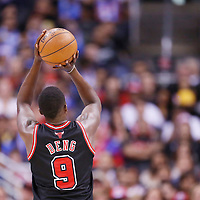 24 November 2013: Chicago Bulls small forward Luol Deng (9) is seen at the free throw line during the Los Angeles Clippers 121-82 victory over the Chicago Bulls at the Staples Center, Los Angeles, California, USA.