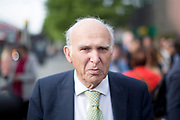 UNITED KINGDOM, London: 22 May 2019 <br /> Leader of the Liberal Democratics Vince Cable outside Archway Station, North London as part of the party's final push ahead of the European election campaign. Vince Cable joined activists for a rally speech and leafleting in Jeremy Corbyn's own constituency.<br /> Rick Findler / Story Picture Agency