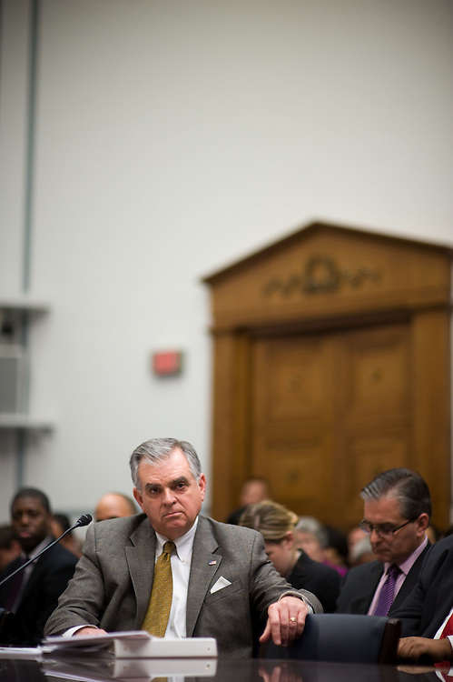 Transportation Secretary Ray LaHood testifies before a House Government Reform Committee hearing on the recent recalls on Toyota vehicles on Wednesday, Feb. 24, 2010 in Washington.