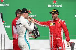 June 9, 2018 - Montreal, Canada - Motorsports: FIA Formula One World Championship 2018, Grand Prix of Canada , #5 Sebastian Vettel (GER, Scuderia Ferrari)#77 Valtteri Bottas (FIN, Mercedes AMG Petronas) (Credit Image: © Hoch Zwei via ZUMA Wire)
