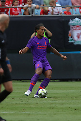 July 22, 2018 - Charlotte, NC, U.S. - CHARLOTTE, NC - JULY 22: Virgil van Dijk (4) of Liverpool with the ball during the International Champions Cup soccer match between Liverpool FC and Borussia Dortmund in Charlotte, N.C. on July 22, 2018. (Photo by John Byrum/Icon Sportswire) (Credit Image: © John Byrum/Icon SMI via ZUMA Press)