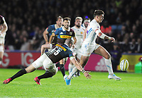 Rugby Union - 2016 / 2017 Aviva Premiership - Harlequins vs. Exeter<br /> <br /> Henry Slade of Exeter runs through to score his try at The Stoop.<br /> <br /> COLORSPORT/ANDREW COWIE