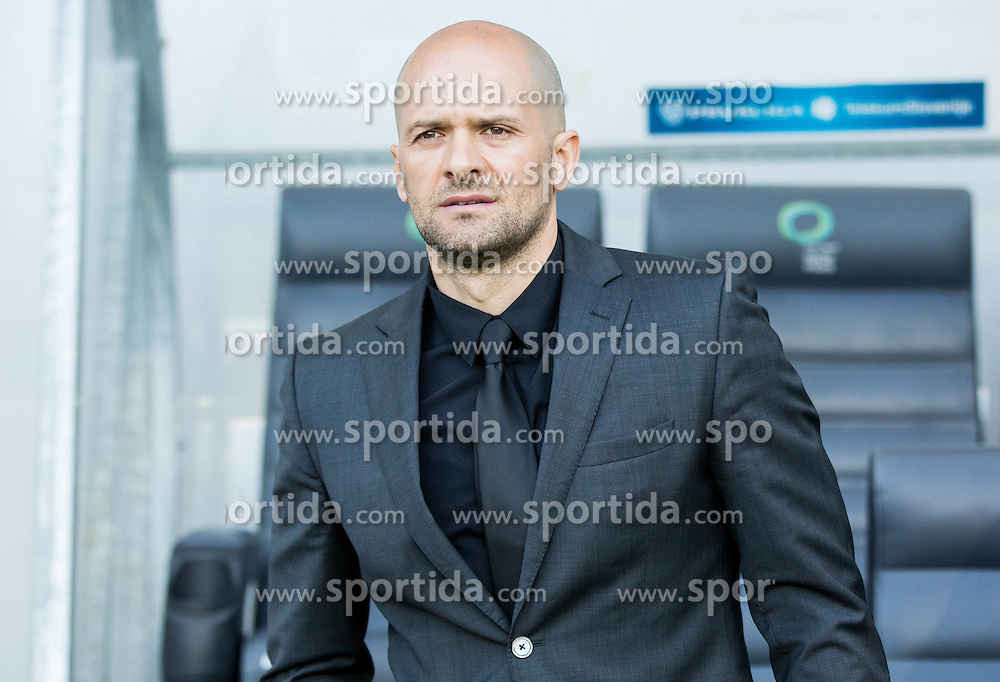 Slavko Matic, head coach of NK Zavrc during football match between NK Olimpija Ljubljana and NK Zavrc in 29th Round of Prva liga Telekom Slovenije 2015/16, on April 10, 2016 in SRC Stozice, Ljubljana, Slovenia. Photo by Vid Ponikvar / Sportida