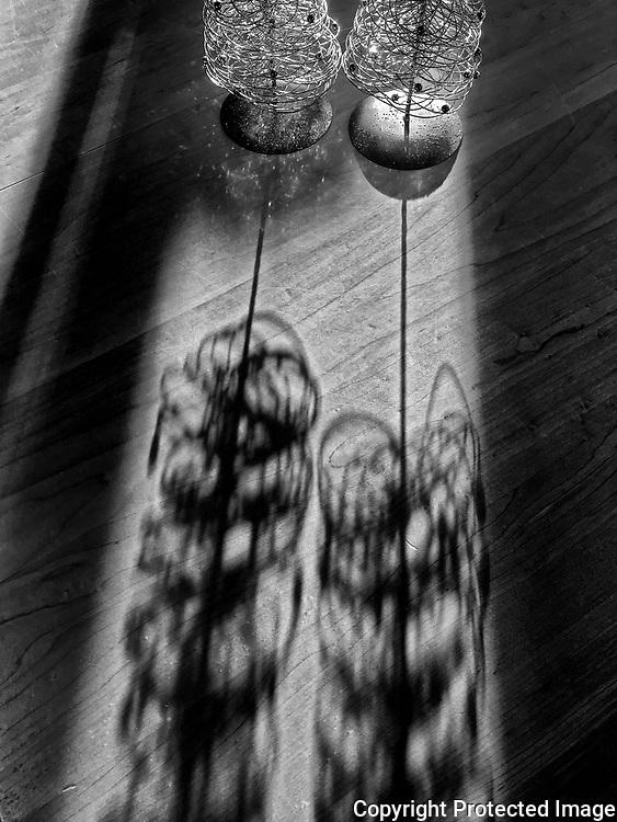 Shadows on table