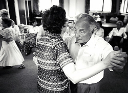 Elderly tea dance, Nottingham UK 1997