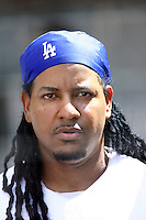 19 July 2009: Left fielder #99 Manny Ramirez  during the MLB Los Angeles Dodgers 4-3 win over the Houston Astros on a warm summer day in LA at Chavez Ravine during a National League Professional Baseball game.