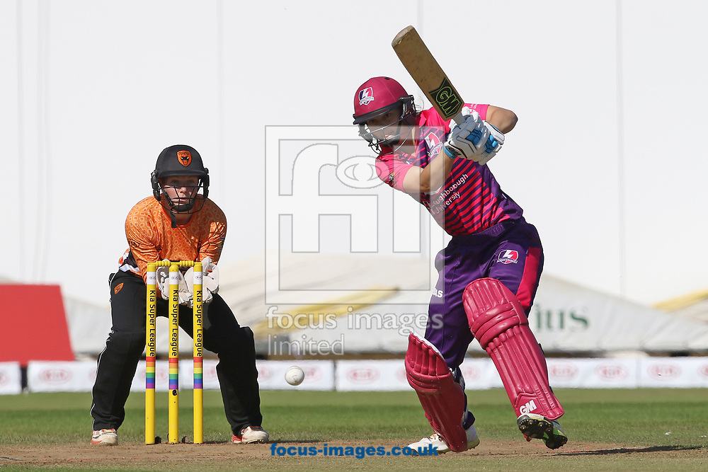 Amy Jones of Loughborough Lightning in batting action during the Kia Super League match at the County Ground, Derby, Derby<br /> Picture by Robert Smith/Focus Images Ltd 07837 882029<br /> 15/08/2017
