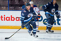 PENTICTON, CANADA - SEPTEMBER 9: Kameron Keilly #91 of Winnipeg Jets skates during first period against the Edmonton Oilers on September 9, 2017 at the South Okanagan Event Centre in Penticton, British Columbia, Canada.  (Photo by Marissa Baecker/Shoot the Breeze)  *** Local Caption ***