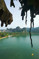 Limestone stalactites Railay Bay East Ao Railay Thailand&#xA;<br />