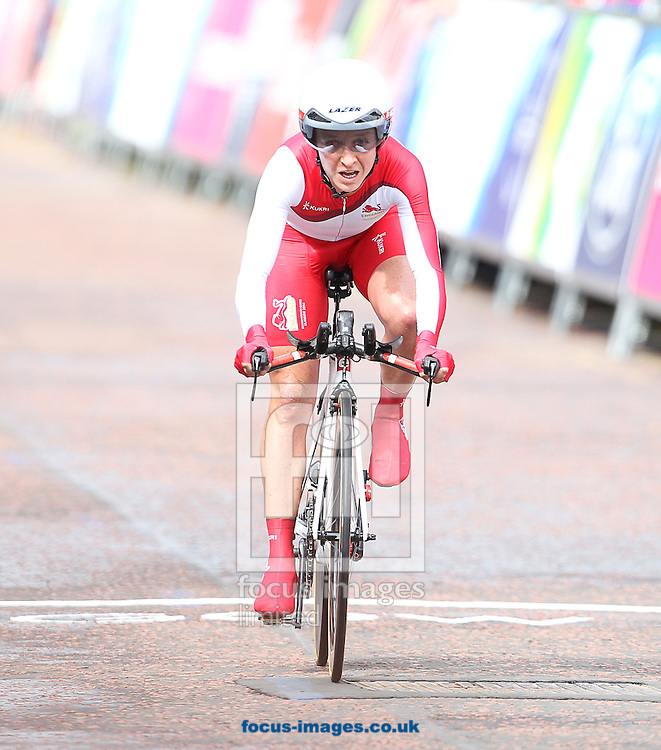 Emma Pooley of England in action during the Women's Time Trial at Glasgow City, during the Glasgow 2014 Commonwealth Games.<br /> Picture by Paul Terry/Focus Images Ltd +44 7545 642257<br /> 31/07/2014