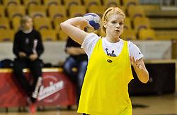 Neza Mitrusevska during practice session of Slovenian Women handball National Team three days before match against Serbia, on October 24, 2013 in Arena Tivoli, Ljubljana, Slovenia. (Photo by Vid Ponikvar / Sportida)