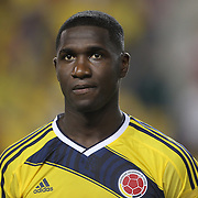 Cristián Zapata, Colombia, during the Colombia Vs Canada friendly international football match at Red Bull Arena, Harrison, New Jersey. USA. 14th October 2014. Photo Tim Clayton
