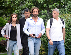 May 31, 2018 - Shanghai, Shanghai, China - Shanghai, CHINA-The retired Argentine footballer Hernán Crespo shows at the street in Shanghai, May 31st, 2018. (Credit Image: © SIPA Asia via ZUMA Wire)