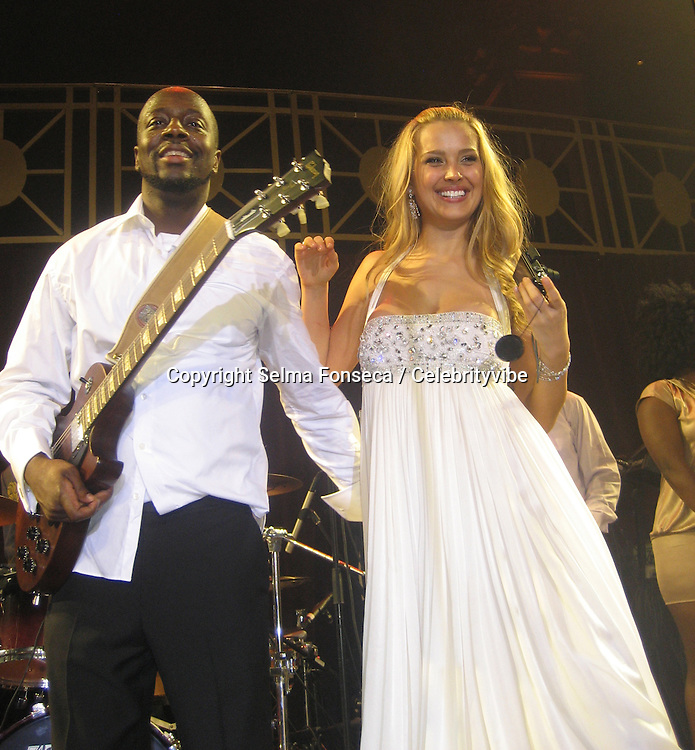 Petra Nemcova & Wyclef Jean.Gold Heart Ball for Happy Hearts Benefit Event.Cipriani Wall Street.New York City, NY, USA .Wednesday, October 10, 2007.Photo By Selma Fonseca/ Celebrityvibe.To license this image call (212) 410 5354 or;.Email: celebrityvibe@gmail.com; .Website: www.celebrityvibe.com .