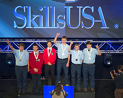The 2017 SkillsUSA National Leadership and Skills Conference Competition Medalists were announced Friday, June 23, 2017 at Freedom Hall in Louisville. <br /> <br /> Marine Service Technology<br /> <br /> Maxwell Hodges<br />   High School Bucks County Technical High School<br />   Gold Fairless Hills, PA<br /> Marine Service TechnologyCaleb LaFond<br />   High School Wexford-Missaukee Area CTC<br />   Silver Cadillac, MI<br /> Marine Service TechnologyJoshua Rodgers<br />   High School Paris High School<br />   Bronze Paris, TX<br /> Marine Service TechnologyPatrick Kelly<br />   College Manatee Tech College<br />   Gold Bradenton, FL<br /> Marine Service TechnologyDillon Miles<br />   College East Mississippi Community College<br />   Silver Mayhew, MS<br /> Marine Service TechnologyAlex Schute<br />   College Iowa Lakes Community College<br />   Bronze Emmetsburg, IA