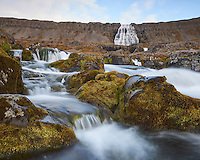 Dynjandi waterfall (also known as Fjallfoss) in West fiords of Iceland.