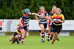 Abbie Fleming of Bristol Ladies off loads the ball - Mandatory by-line: Craig Thomas/JMP - 17/09/2017 - Rugby - Cleve Rugby Ground  - Bristol, England - Bristol Ladies  v Richmond Ladies - Women's Premier 15s