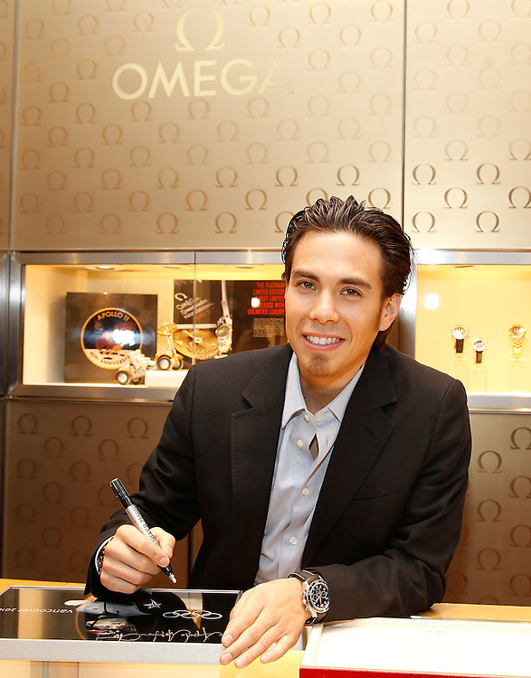NEW YORK - MARCH 04:  Olympic Medalist and OMEGA Ambassador Apolo Anton Ohno visits the Omega Flagship Boutique on March 4, 2010 in New York City.  (Photo by Joe Kohen/Getty Images for OMEGA)