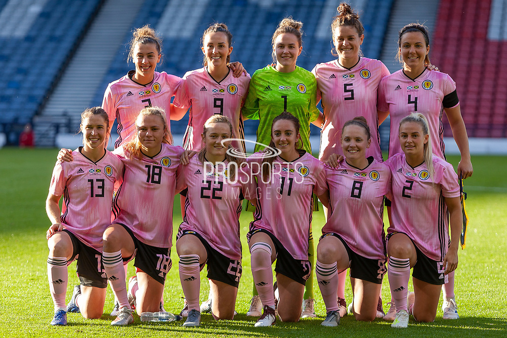 Scotland Womens National Team during the International Friendly match between Scotland Women and Jamaica Women at Hampden Park, Glasgow, United Kingdom on 28 May 2019.
