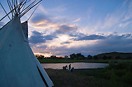 Crow Indian riding horse, Little Bighorn River, tipi, Crow Indian Reservation, Montana
