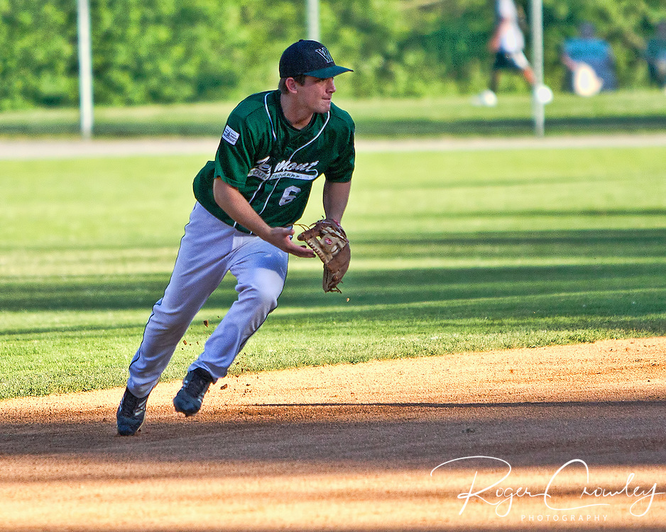 The Holyoke Blue Sox scored two runs in the top of the ninth but Kyle Grana struck out Connor Spencer leaving the tying run on third as Vermont edged out a 4-3 win in New England Collegiate Baseball League (NECBL) action on Saturday night at Montpelier Recreation Field.