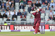 Rovman Powell during the One Day International match between England and West Indies at Old Trafford, Manchester, England on 19 September 2017. Photo by George Franks.
