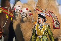 Mongolie, Desert de Gobi, Region de Dalanzadgad, Village de Moron, Festival des chameaux, Nouvel an Mongol, Course de chameaux. // Mongolia, Gobi desert, Dalanzadgad area, Moron village, Camel festival, Mongolian new year, Camel race.