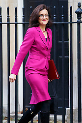 © Licensed to London News Pictures. 04/11/2014. LONDON, UK. Northern Ireland Secretary Theresa Villiers attending to a cabinet meeting in Downing Street on Tuesday 4 November 2014. Photo credit: Tolga Akmen/LNP
