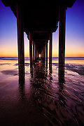La Jolla Shores and Scripps Pier at Sunrise San Diego County California