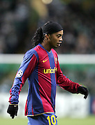 Ronaldinho. Celtic v Barcelona, Uefa Champions League, Knockout phase, Celtic Park, Glasgow, Scotland. 20th February 2008.