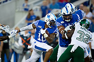 Kentucky Wildcats running back AJ Rose (10), runs in a touchdown during the first half at Kroger Field in Lexington, Ky., Saturday, Sept. 7, 2019.